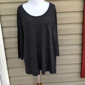 Cynthia Rowley women's gray 3/4 sleeve knit top